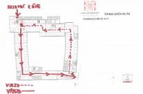 Plánek parkování u apartmánu