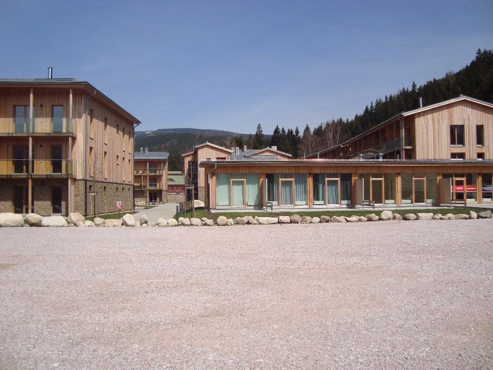 Pohled z parkoviště Medvědín ve Špindlerově Mlýnu